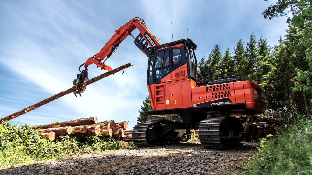 Doosan log loader loaded with features for safe and