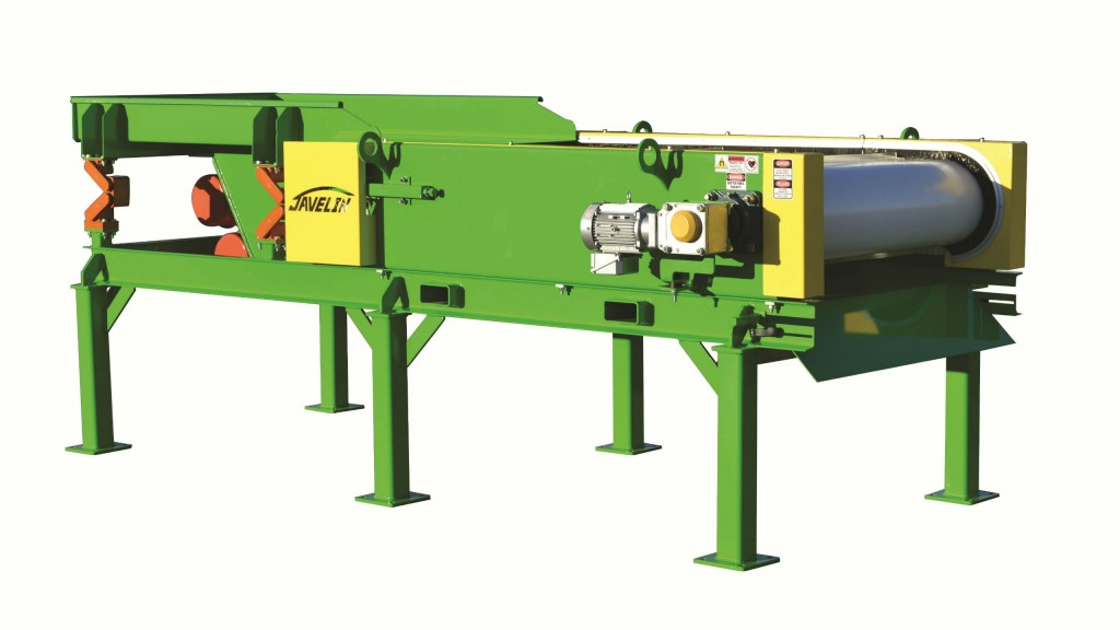 Javelin, building on experience manufacturing ECS technology, now offers an ultra-high gauss holding magnet developed to attract and hold low-grade stainless steel scrap found in electronic scrap, wire chopping lines and auto shredder residue.