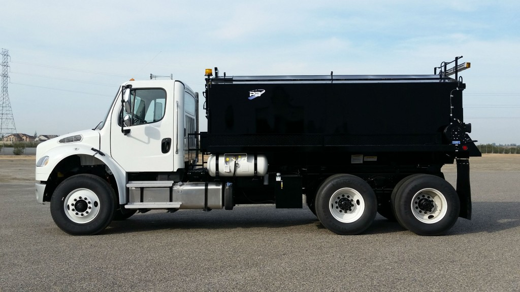 The B10 fully equipped patcher mounted on a conventional cab.