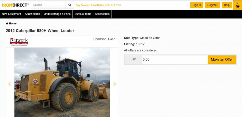IronDirect is backed by e-commerce pioneer Liquidity Services. IronDirect provides construction equipment buyers a convenient online platform to purchase a large and growing number of value-priced and premium brand products .