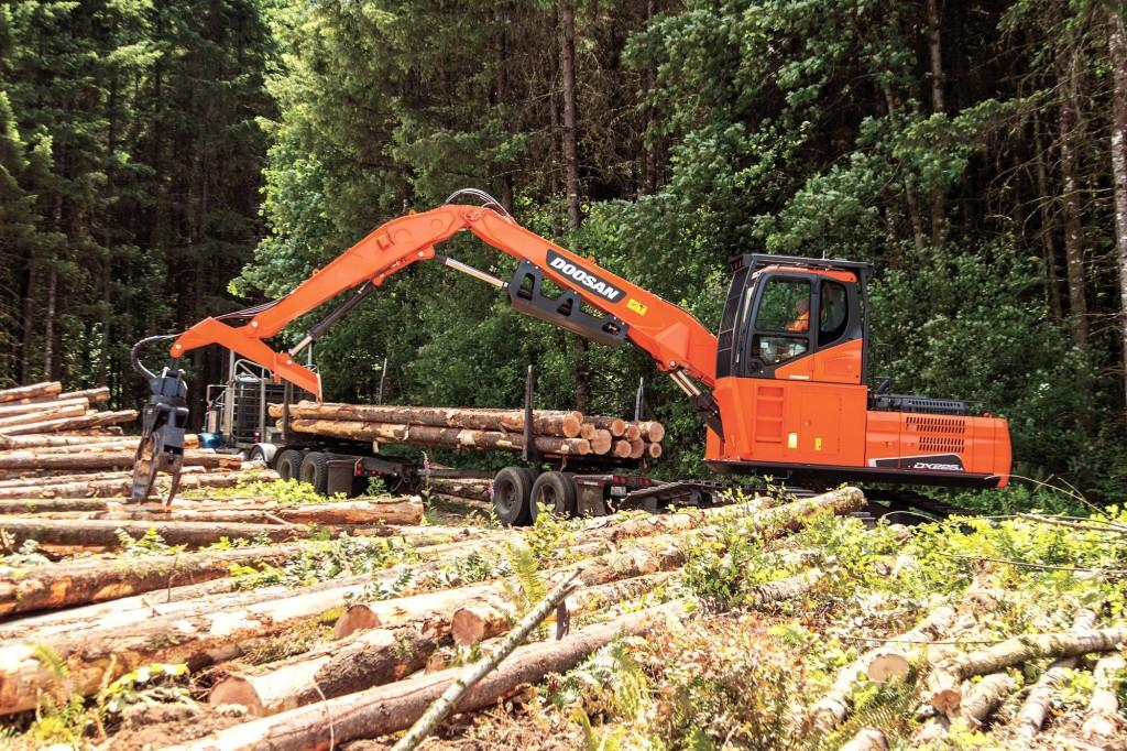 Doosan Infracore North America LLC - DX225LL-5 Forestry Log Loaders