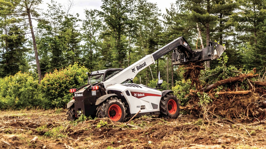 The V519 VersaHANDLER telescopic tool carrier commonly known as a telehandler, delivers many of the same functions of a wheel loader, an attachment carrier and a rough-terrain forklift.