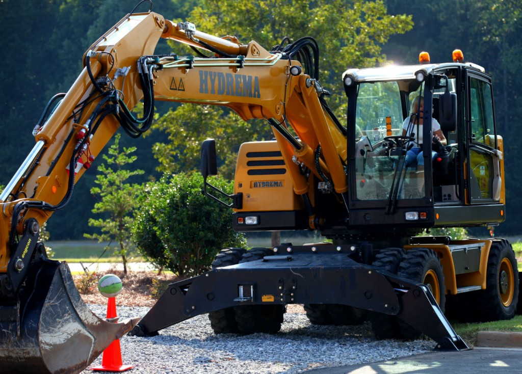 Attendees participated in an excavator rodeo.