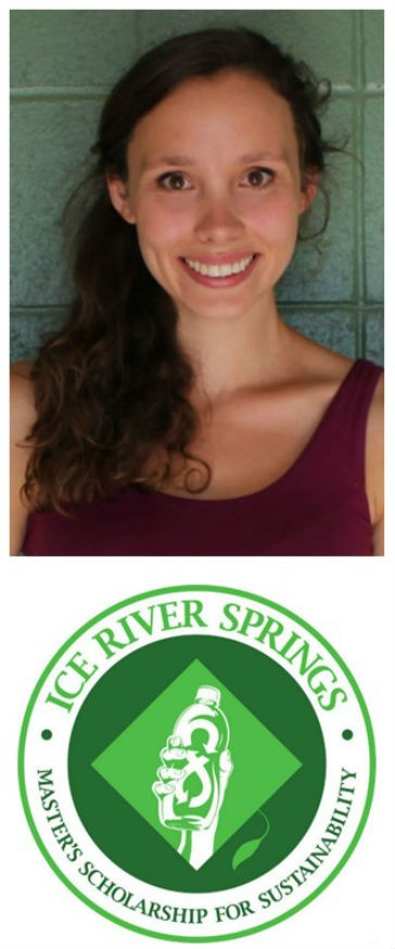 Jillian Treadwell a student at McGill University in the department of Bioresource Engineering received the award of the first Ice River Springs Master's Scholarship for Sustainability.