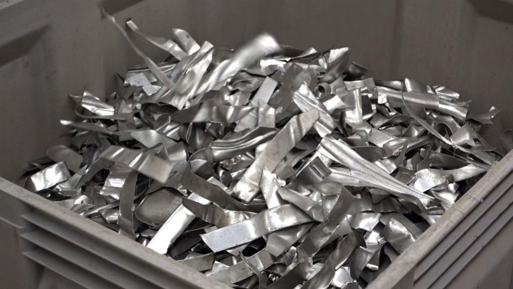Stamping waste from the automobile industry (Alu-minium alloys 5xxx und 6xxx)