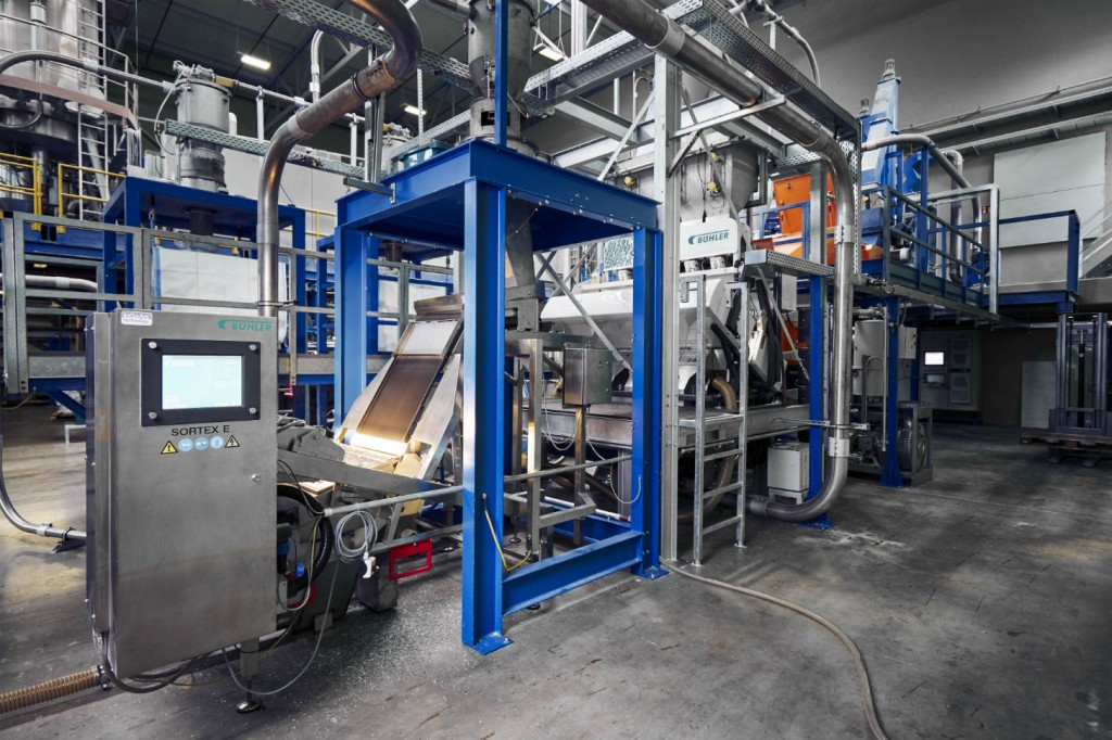 Bühler's flexible two machine solution - SORTEX E PolyVision and SORTEX A ColorVision.