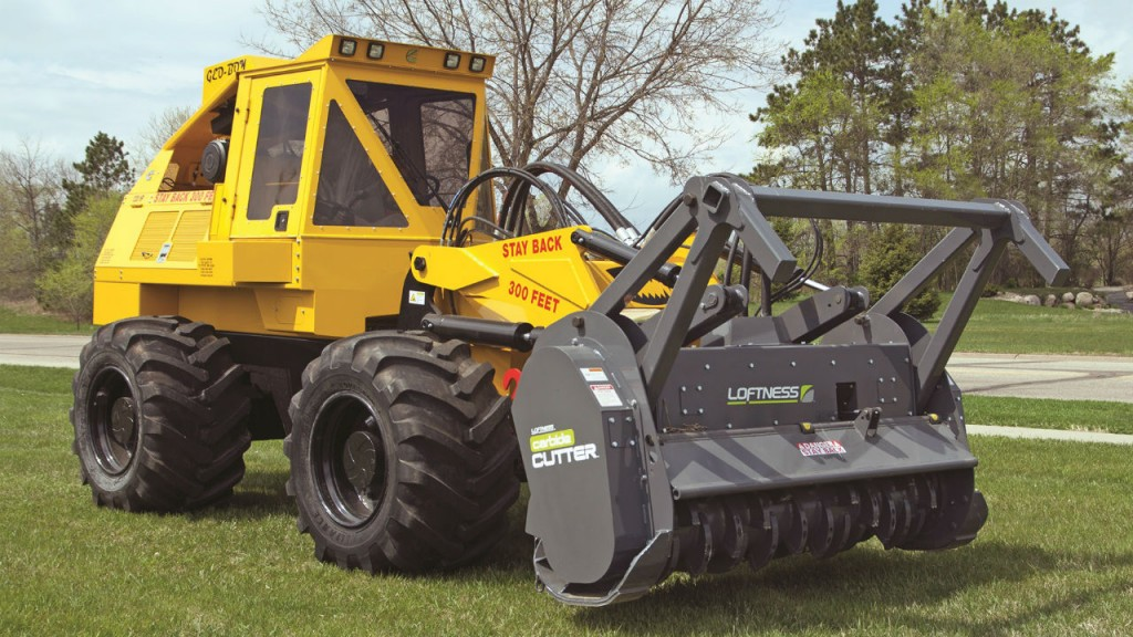 Geo-Boy brush cutter tractor for land clearing and site prep