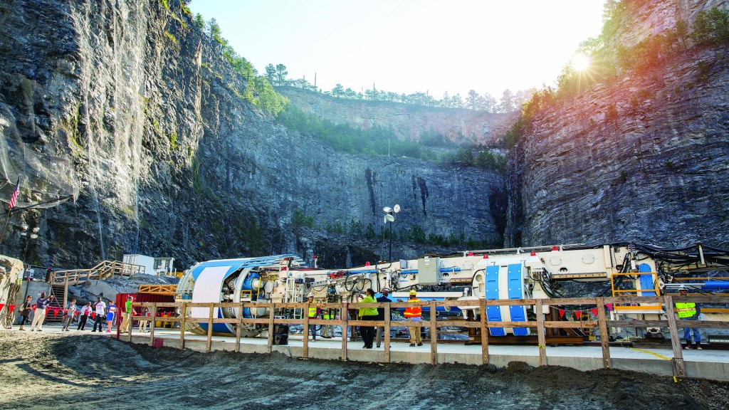 "The Robbins Main Beam TBM, dubbed ""Driller Mike"", was launched on Atlanta, Georgia, USA's Bellwood Tunnel in October 2016."