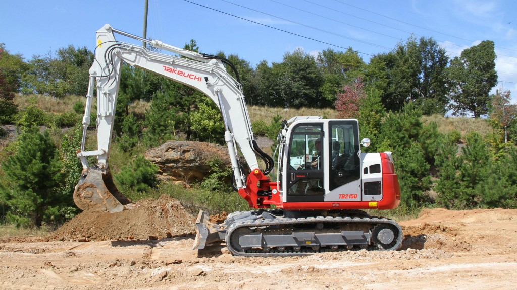 The TB2150 excavator is powered by a Deutz TCD 3.6 liter turbocharged diesel engine that is U.S. EPA Final Tier 4 emission compliant.