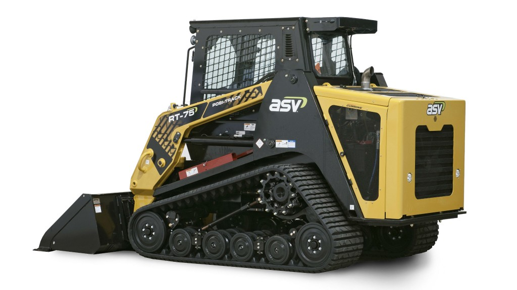 ASV LLC's RT-75 Posi-Track compact track loader offers versatility with its high ground clearance, low ground pressure and superior traction for a variety of conditions, from fragile turf, mud and wet ground to slopes, ice and snow.