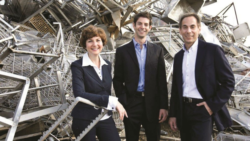 From left: Haderra, Adam and Mark Chisick, the family behind Urbanmine, bring a fresh approach to the scrap business.
