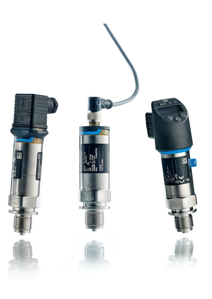 Cerabar pressure transducers.