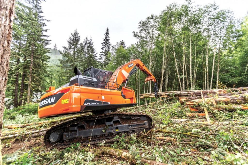 Doosan Infracore North America LLC - DX380LL-5 Forestry Log Loaders