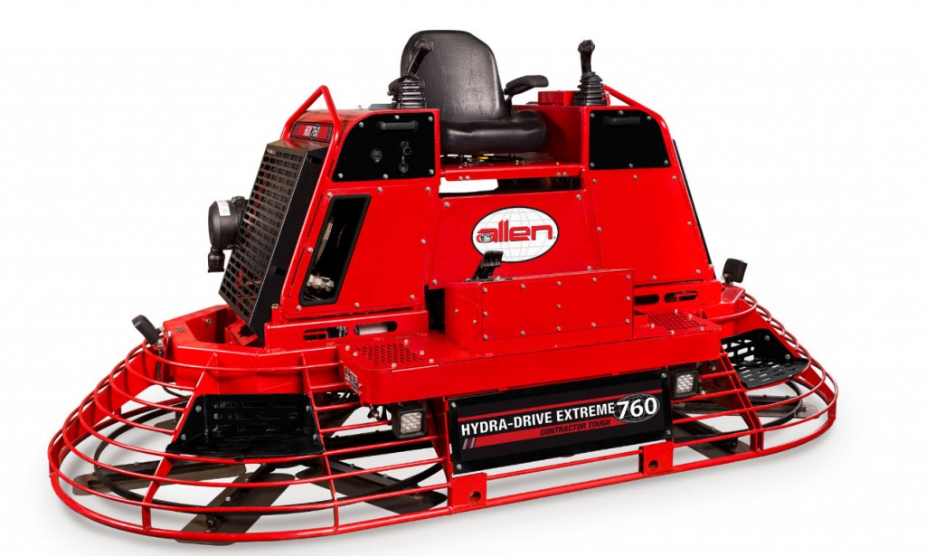 Allen Introduces the New HDX760 Hydra-Drive Extreme Riding Trowel