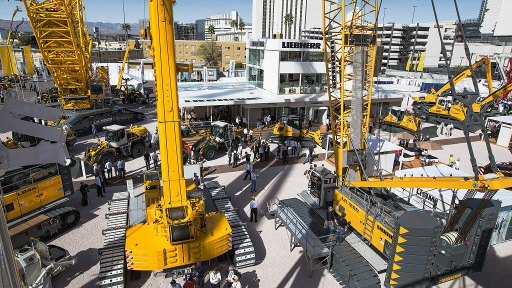 Liebherr to display range of material handlers, loaders and excavators at CONEXPO-CON/AGG 2017