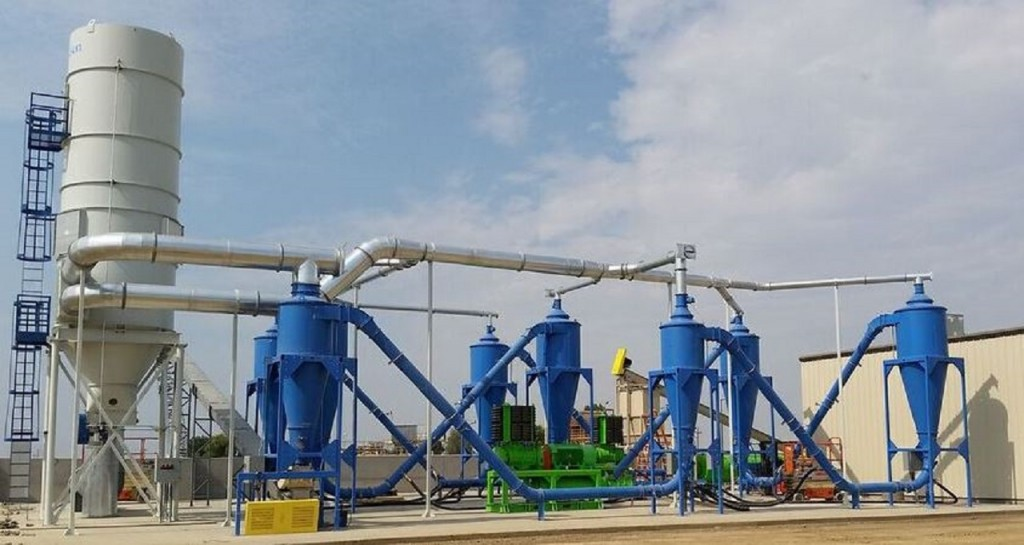 The Dryclone Non-Thermal Drying System, manufactured by Resource Converting, LLC (RCI) is a non-thermal air drying system for wet semi-solid materials.