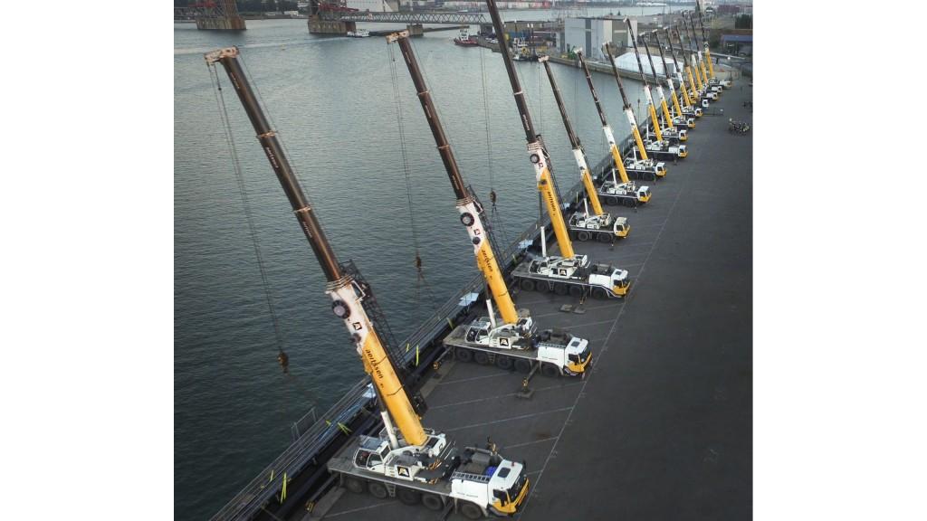 14 cranes handle pipeline lift in Belgium