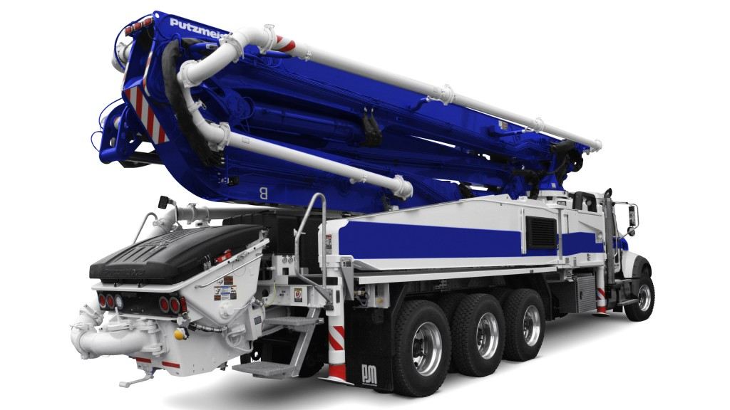 New five-section truck-mounted boom pump introduced at World of Concrete