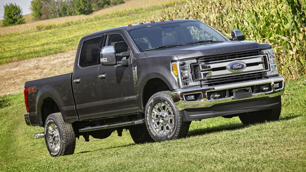 All-new 2017 Ford F-Series Super Duty features an all-new, high-strength steel frame, segment-first, high-strength, military-grade, aluminum-alloy body, and stronger axles, springs and suspension.