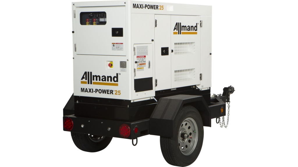 Allmand Bros Expands into the Mobile Generator Market with the launch of the Maxi-Power