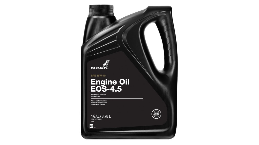Increased oil drain intervals with Mack Engine Oil