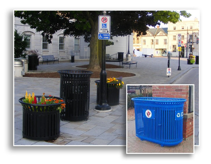 Premier Series Waste and Recycling Receptacles Offer Contemporary, Vandal-Resistant Design