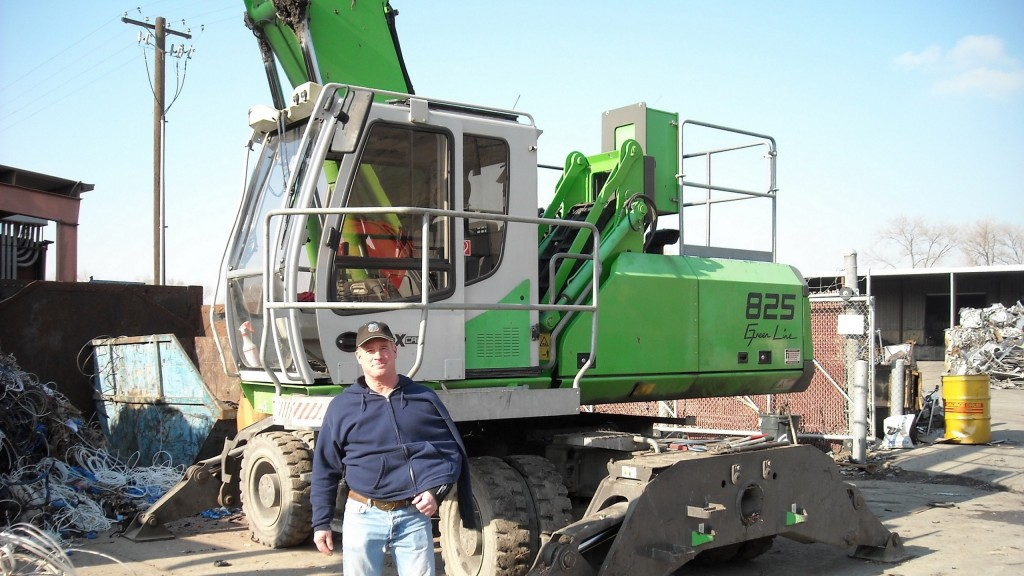 Mark Lewon and Utah Metal Works recently made the move to a 825 M dedicated, wheeled material handler.
