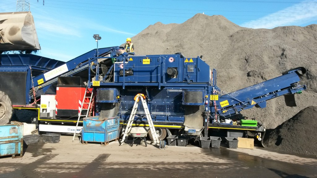 A complete demo recovery line for the recovery of ferrous and non-ferrous metals from ASR (Automobile Shredder Residue), metals, wood, construction and demolition waste.
