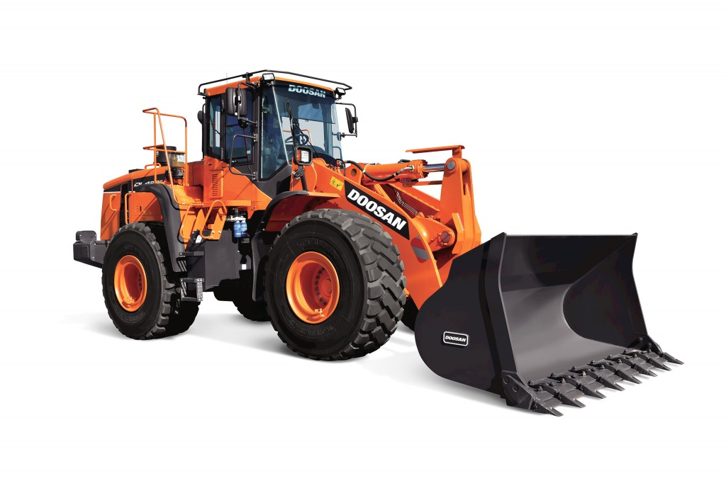 Doosan DL420-5 CVT wheel loader is company's first model equipped with continuously variable transmission