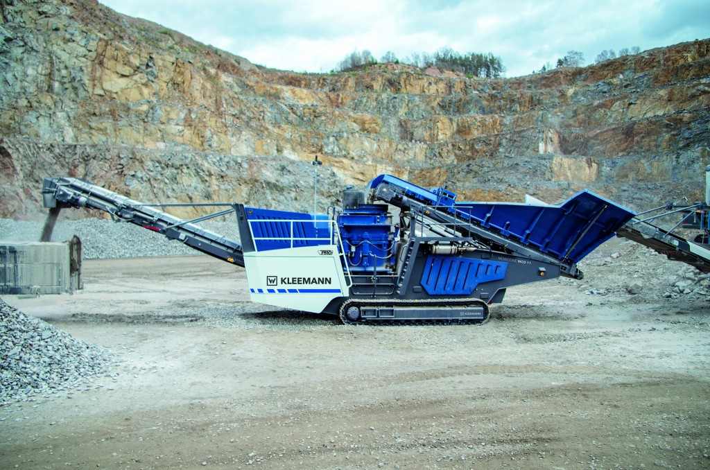 Kleemann MOBICONE MCO 11i PRO cone crusher features SPECTIVE intuitive control system