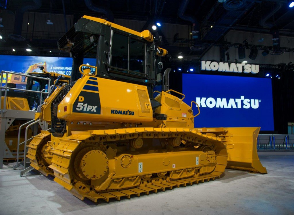 Komatsu D51 EX/PX-24 crawler dozer with electronically controlled hydrostatic transmission reduces fuel consumption by up to 13 percent
