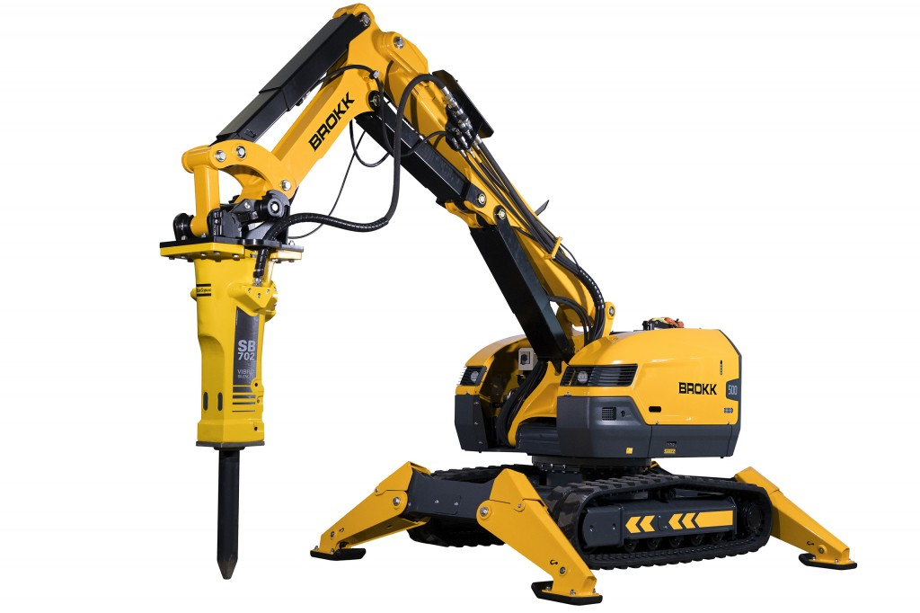 Brokk 500 Demolition Machine boasts 40 percent more demolition power over its predecessor