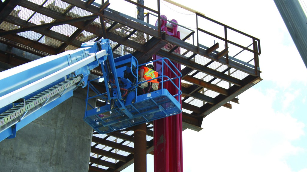 Genie Z-62/40 articulating boom lift was chosen for similar working height as S-125, SX-150 and SX-180 telescopic booms.