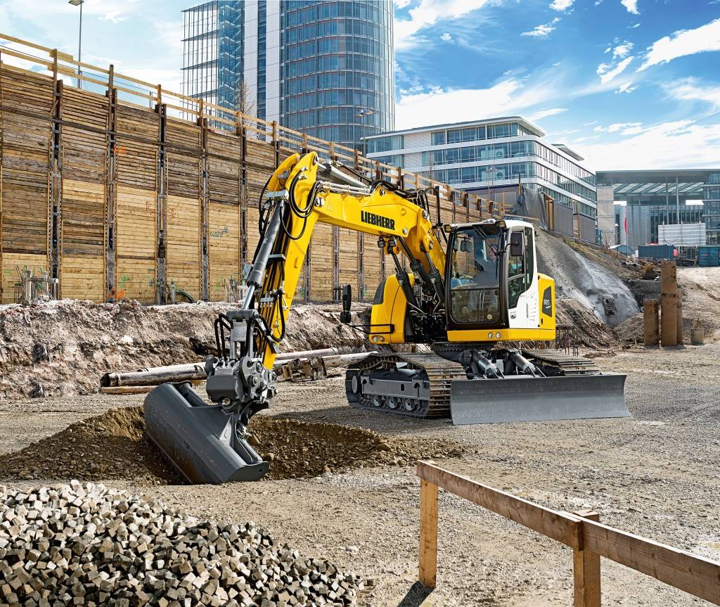 Liebherr R 920 Compact swing crawler excavator designed for use in restricted construction sites or inner city areas