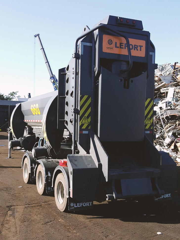 Schnitzer rents to purchase LEFORT .SB 660A towable shear/baler/logger
