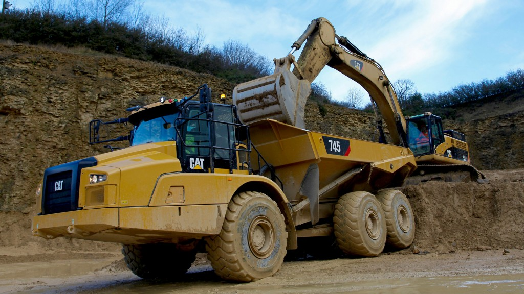 Cat articulated truck adds new cab design, advanced control features