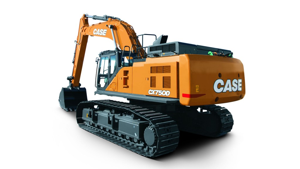 CASE introduces CX750D excavator with best-in-class horsepower and lifting capacities