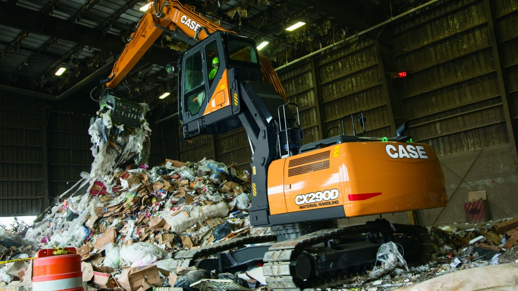 CASE Introduces CX290D Material Handler and CX290D Scrap Loader for Waste and Scrap Applications
