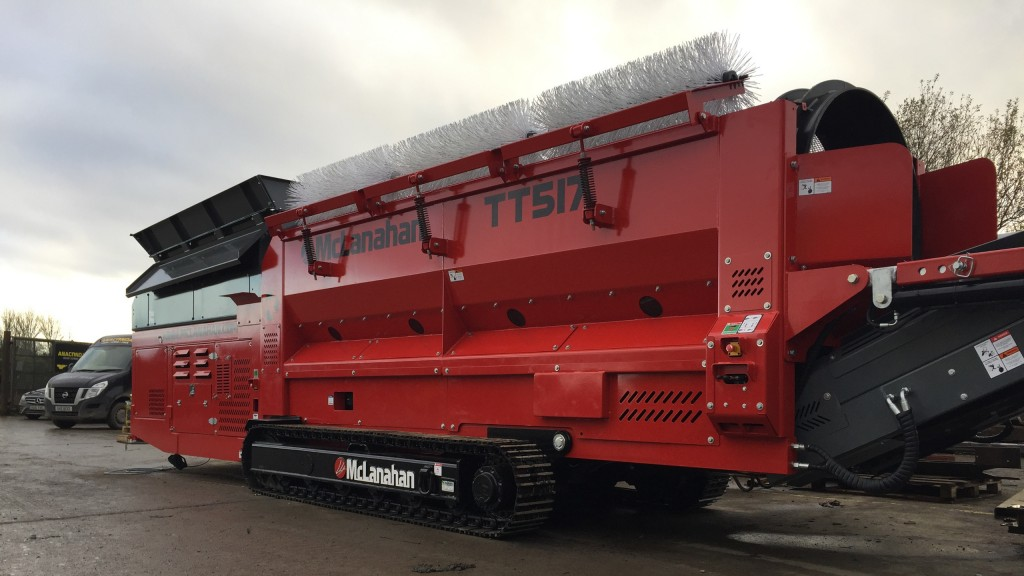 MCLANAHAN enters mobile equipment market with MMS TRACK TROMMEL at CONEXPO