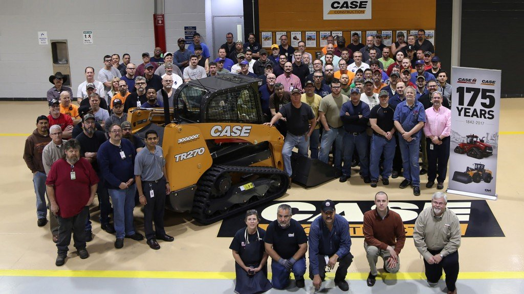 Case facility celebrates 300,000 skid steer/compact track loader milestone