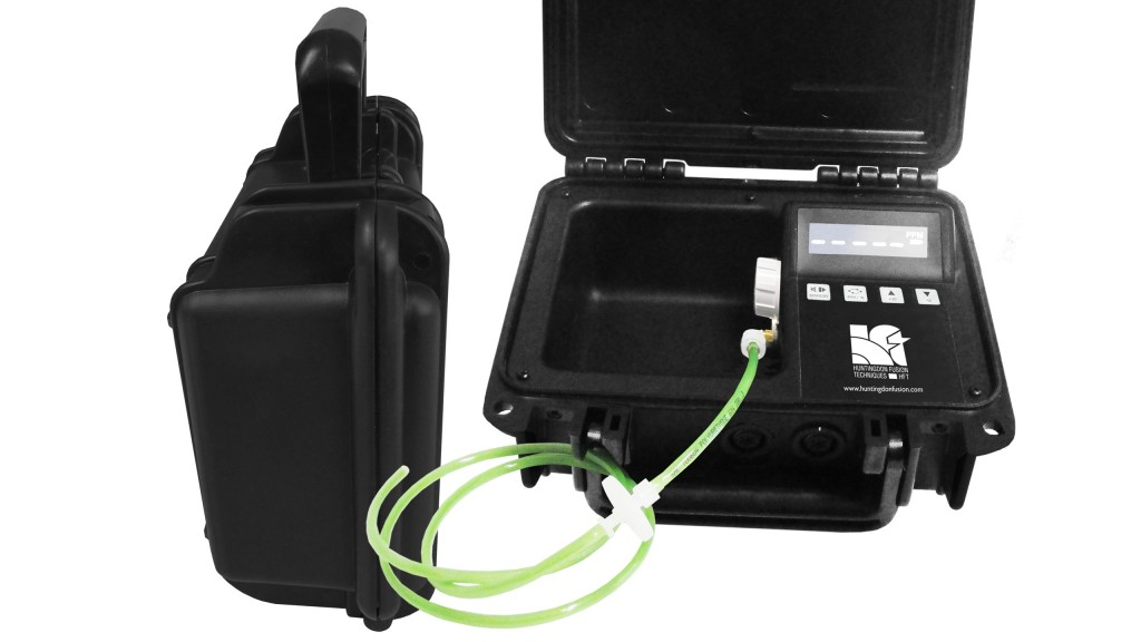Weld purge monitor designed for on-site conditions