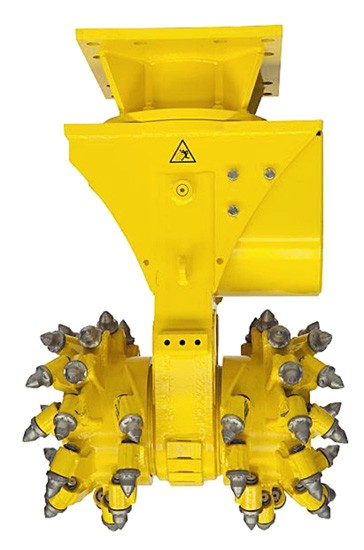 Drum cutter attachment for demolition robot line - Recycling