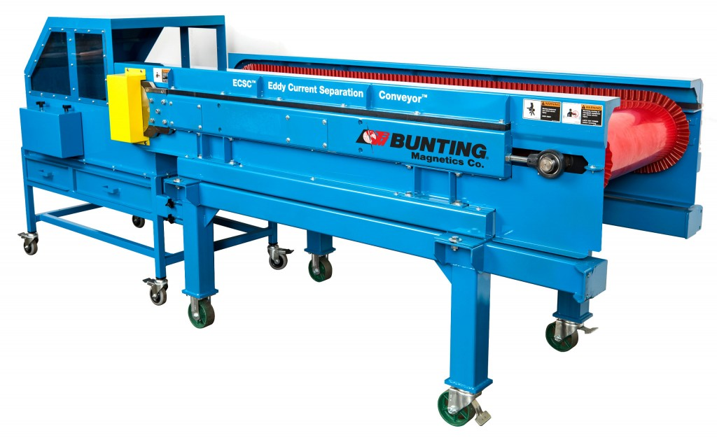 BUNTING MAGNETICS TO UNVEIL REDESIGNED EDDY CURRENT SEPARATION CONVEYOR