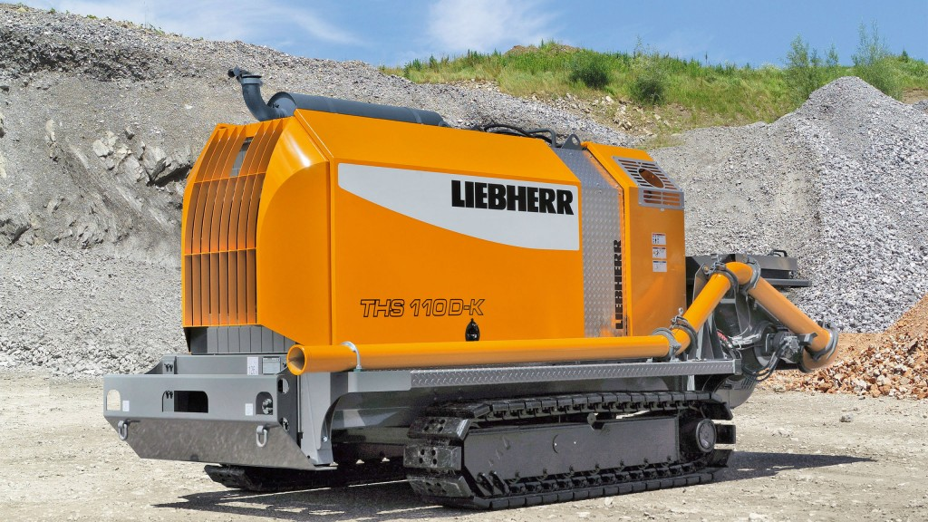 Liebherr crawler concrete pump for bored piling foundations