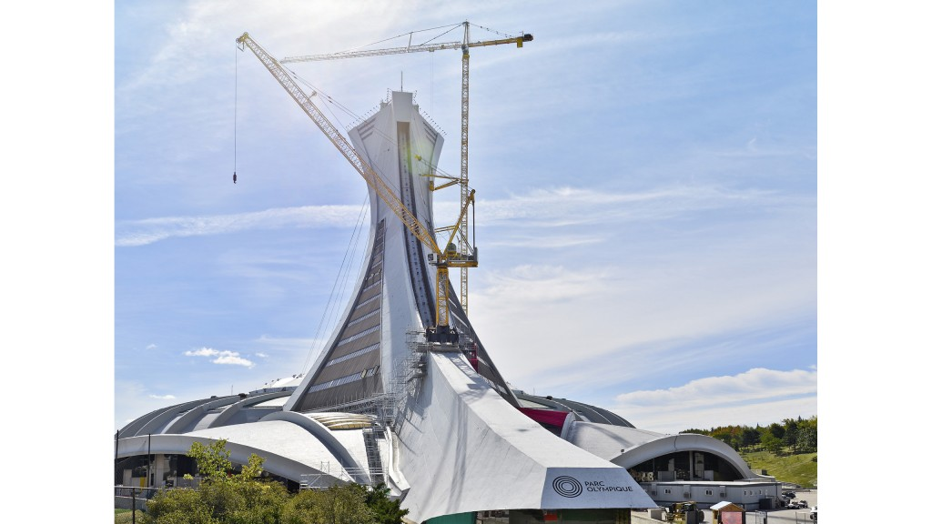 Highest tower crane in Canada working in Montréal's Olympic
