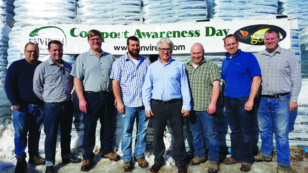 The Envirem Organics management team, with owner Bob Kiely (in glasses, photo middle).