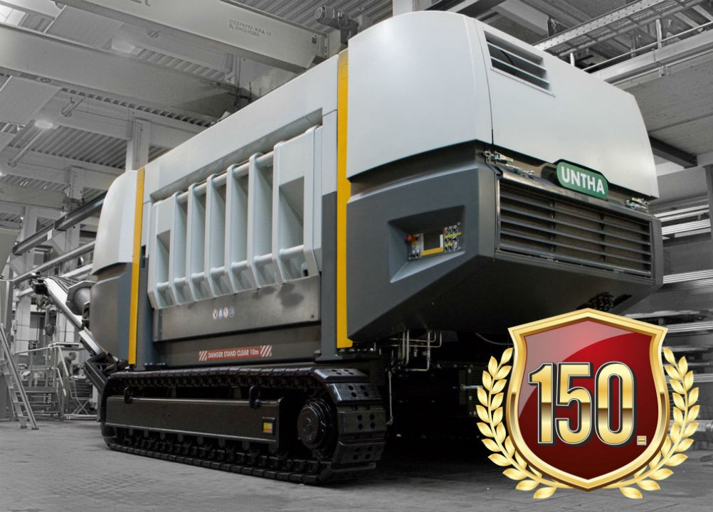 UNTHA XR waste shredder hits one million operational hours