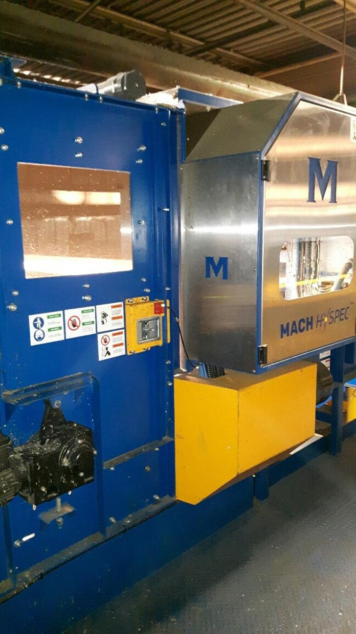 Machinex' Mach Hyspec optical sorter at the City of Hamilton MRF.