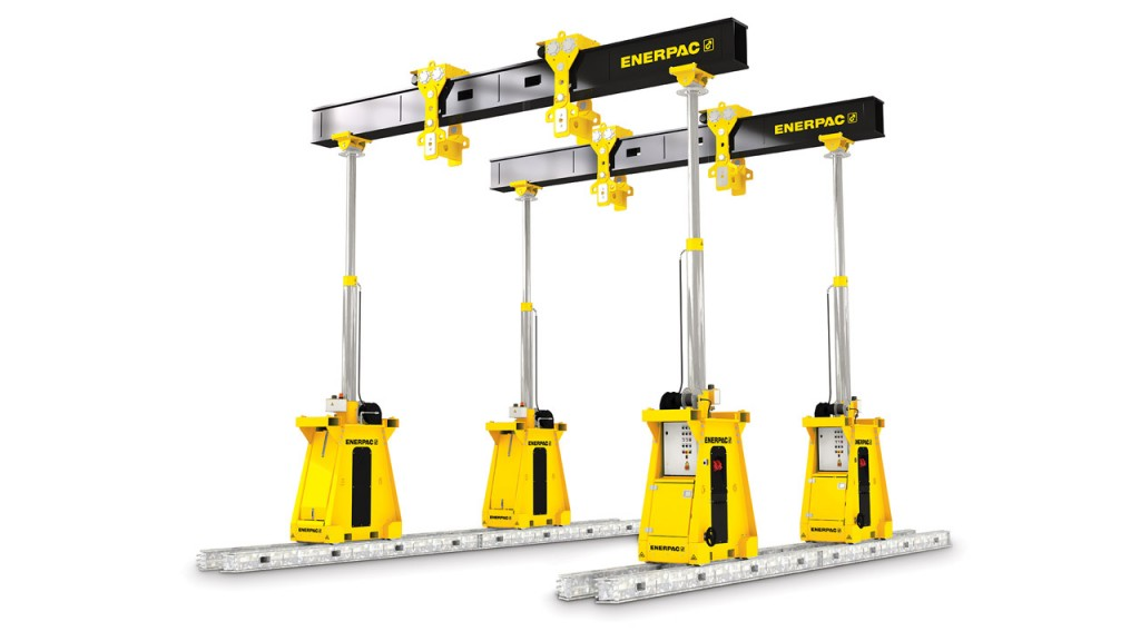 High-capacity hydraulic gantry for lifting and rigging applications