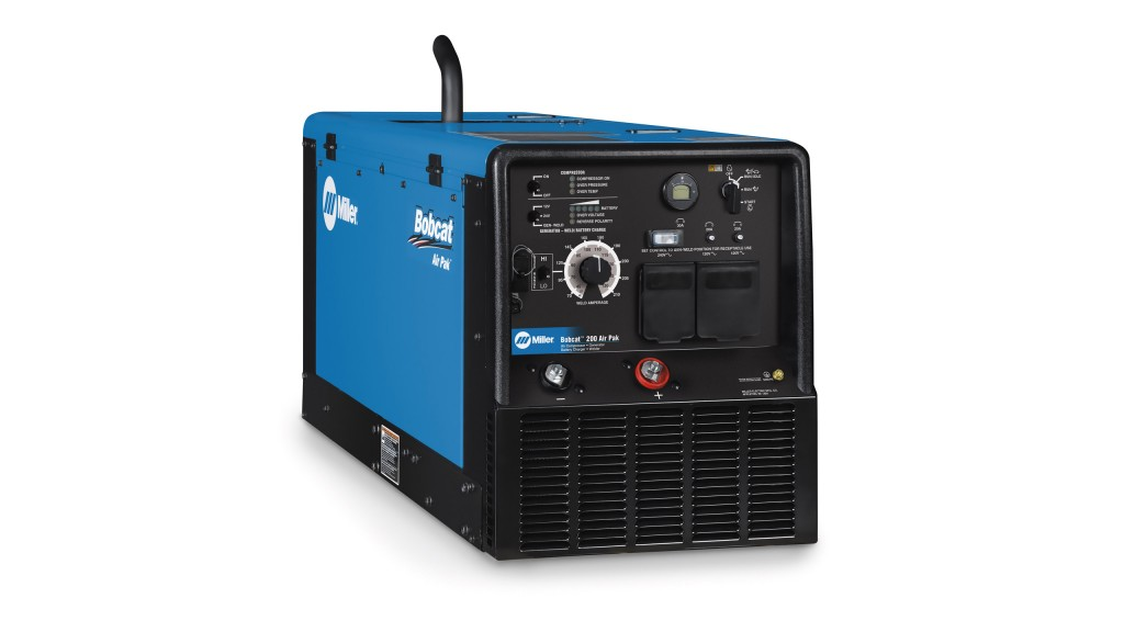 All-in-one compressed air, generator power, battery charging and stick welding unit